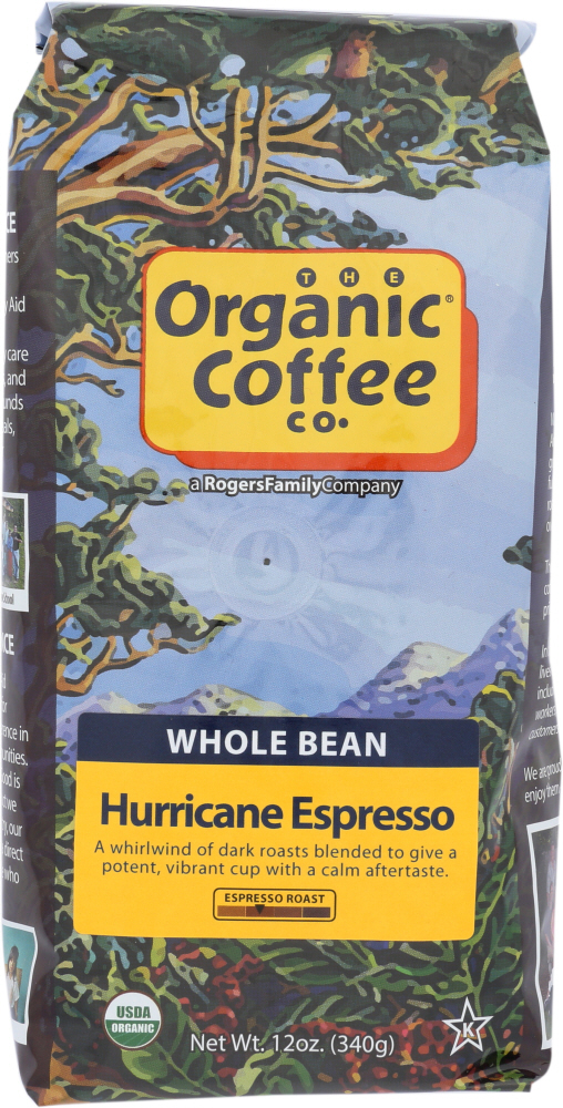 ORGANIC COFFEE CO: Coffee Bean Hurricane Organic, 12 oz