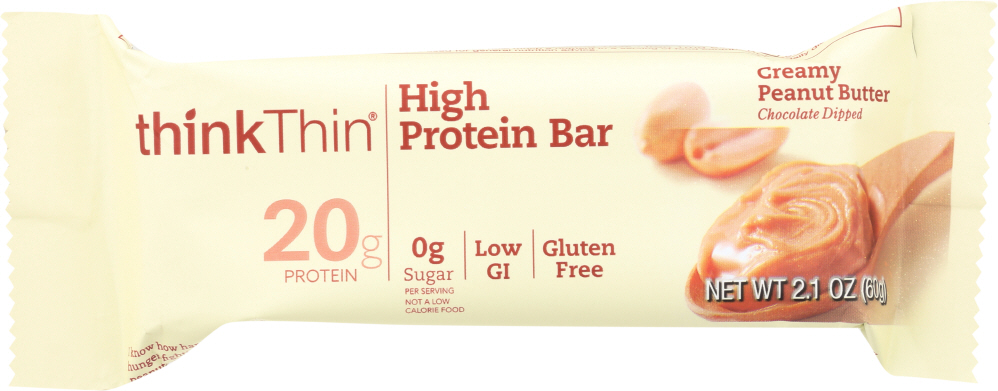 THINKTHIN: Creamy Peanut Butter High Protein Bar, 2.1 oz