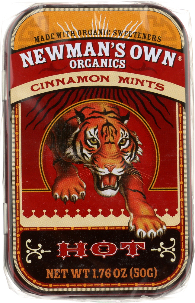 NEWMAN'S OWN: Organic Cinnamon Mints Hot, 1.76 oz