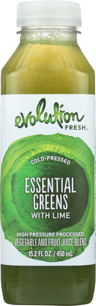 EVOLUTION FRESH: Essential Greens with Lime Juice, 15.2 oz