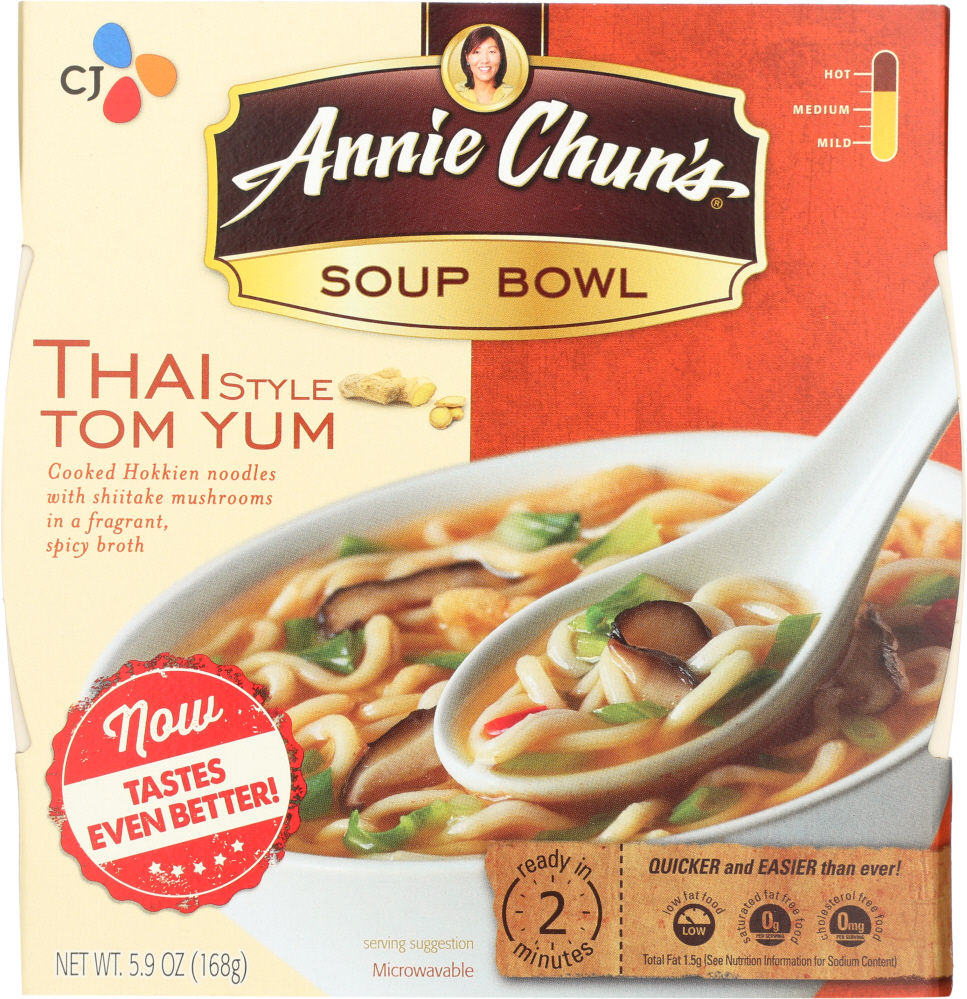 ANNIE CHUNS: Thai Style Tom Yum Soup Bowl, 5.9 oz