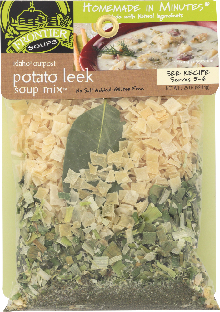 FRONTIER SOUPS: Homemade in Minutes Soup Mix Idaho Outpost Potato Leek, 3.25 oz