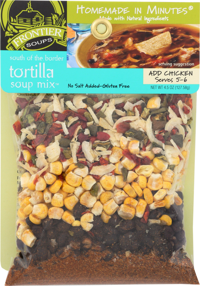 FRONTIER SOUPS: Homemade in Minutes Soup Mix South of the Border Tortilla, 4.5 oz