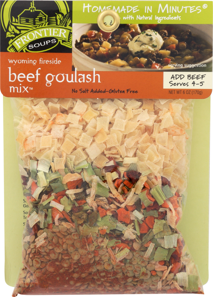 FRONTIER SOUP: Soup Mix Goulash Beef Wyoming, 6 oz