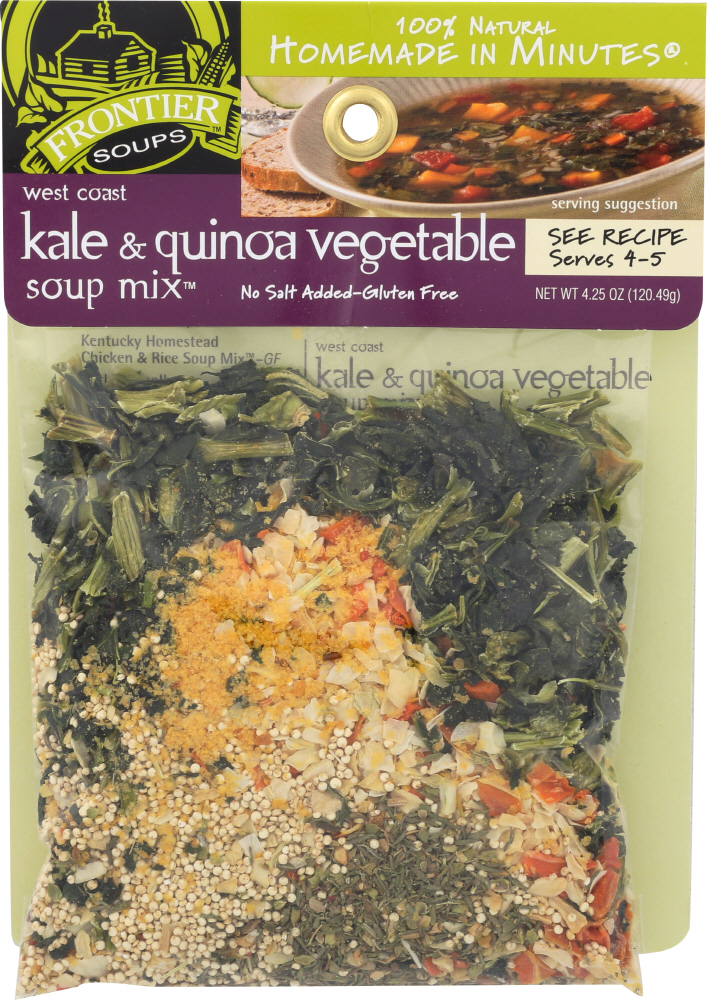 FRONTIER SOUP: West Coast Kale & Quinoa Vegetable Soup Mix, 4.25 oz