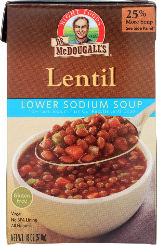 DR. MCDOUGALL'S: Lower Sodium Soup Lentil, 18 oz