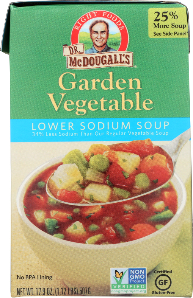 DR. MCDOUGALL'S: Lower Sodium Soup Garden Vegetable, 17.9 oz