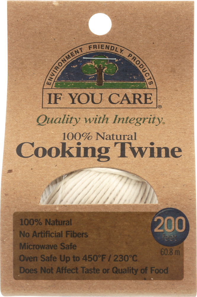 IF YOU CARE: 100% Natural Cooking Twine 200 ft, 1 ea