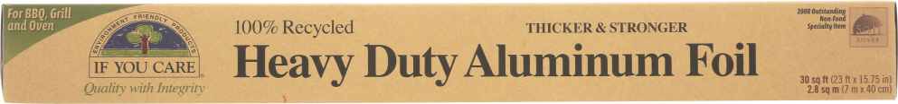IF YOU CARE: 100% Recycled Heavy Duty Aluminum Foil 30 sq ft (23 ft x 15.75 in), 1 ea