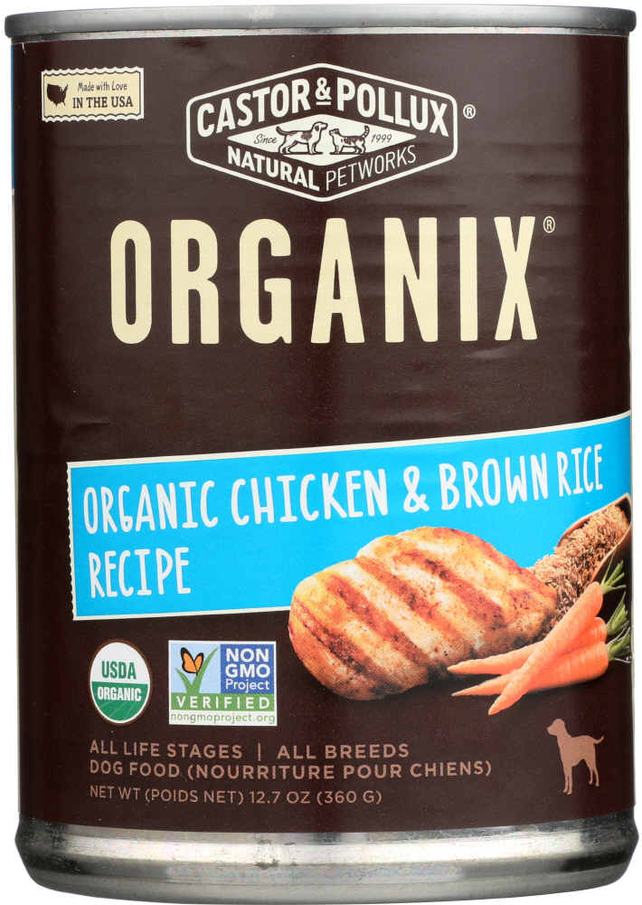CASTOR & POLLUX: Dog Food Can Organic Chicken Brown Rice, 12.7 oz