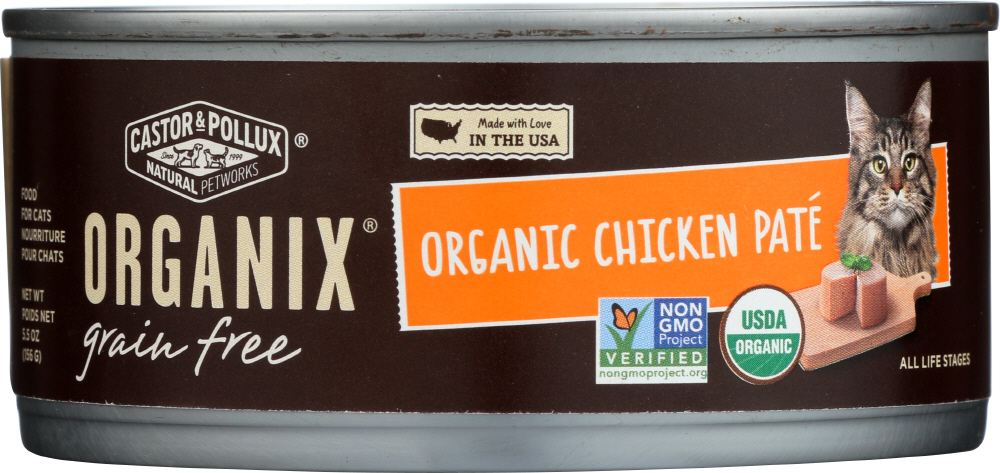 CASTOR & POLLUX: Cat Food Can Organic Chicken Pate, 5.5 oz
