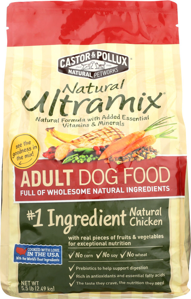 CASTOR & POLLUX: Dog Food Dry Ultra Mix Adult Chicken, 5.5 lb