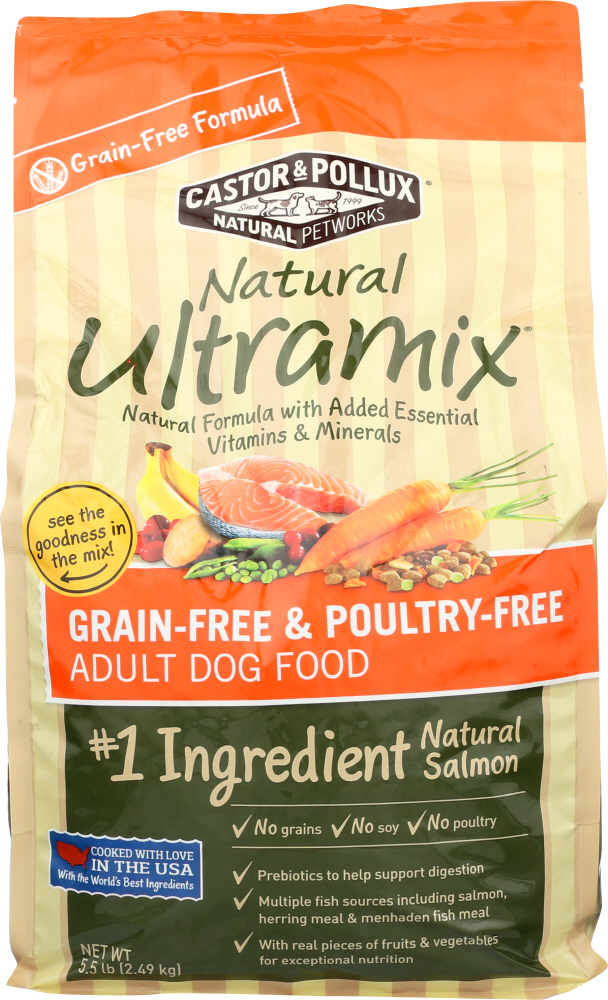 CASTOR & POLLUX: Grain Free Poultry Free Adult Dry Dog Food, 5.5 lb
