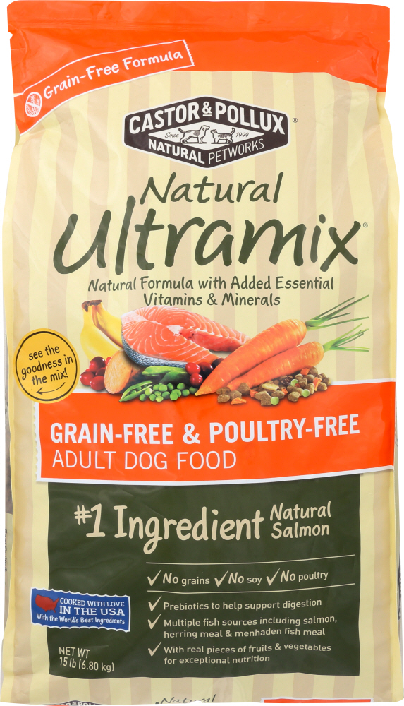 CASTOR & POLLUX: Natural Ultramix Grain-Free And Poultry-Free Salmon Recipe 15 Lb
