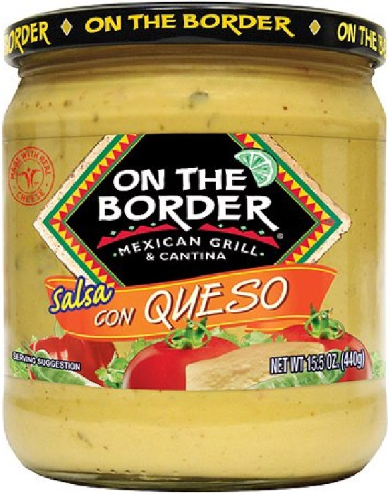 ON THE BORDER: Salsa Queso Cheddar, 15.5 oz