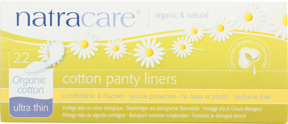 NATRACARE: Ultra Thin Panty Liners, 22 pc