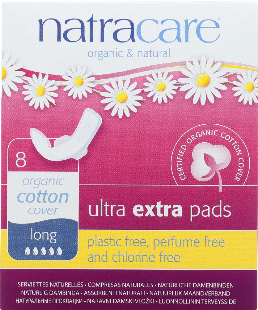 NATRACARE: Ultra Extra Pads Long, 8 Each