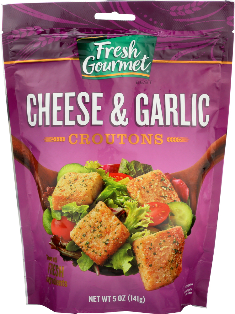 FRESH GOURMET: Cheese And Garlic Croutons, 5 Oz