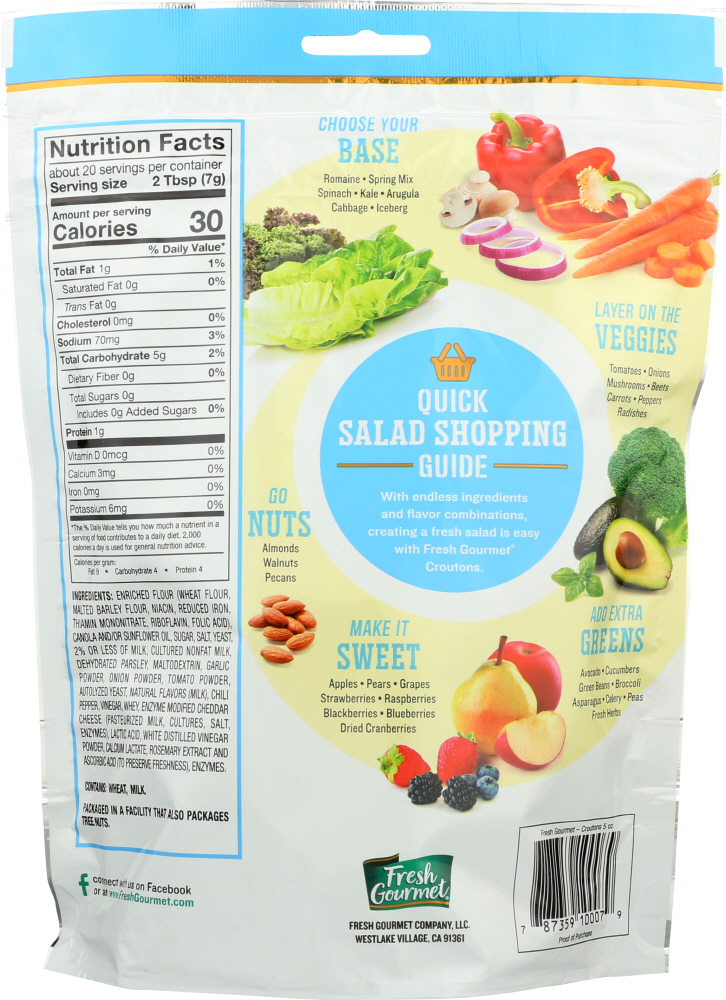 FRESH GOURMET: Country Ranch Croutons, 5 oz