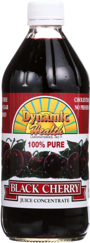 DYNAMIC HEALTH: Pure Black Cherry Juice Concentrate, 16 oz