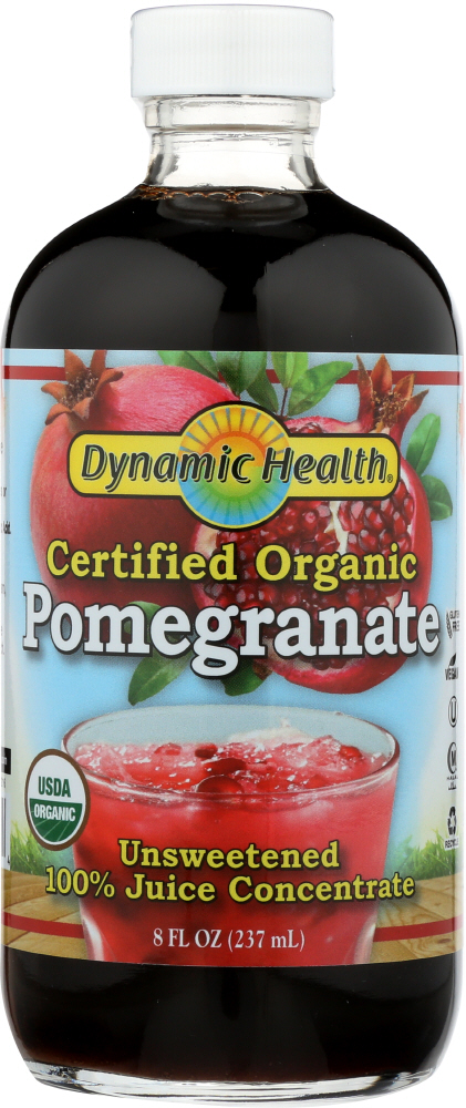 DYNAMIC HEALTH: Juice Concentrate Pomegranate, 8 fo