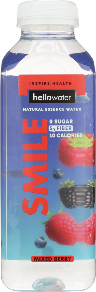HELLOWATER: Water Mixed Berry Smile, 16 oz
