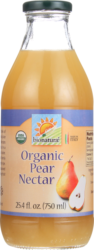 BIONATURAE: Organic Pear Nectar, 25.4 oz