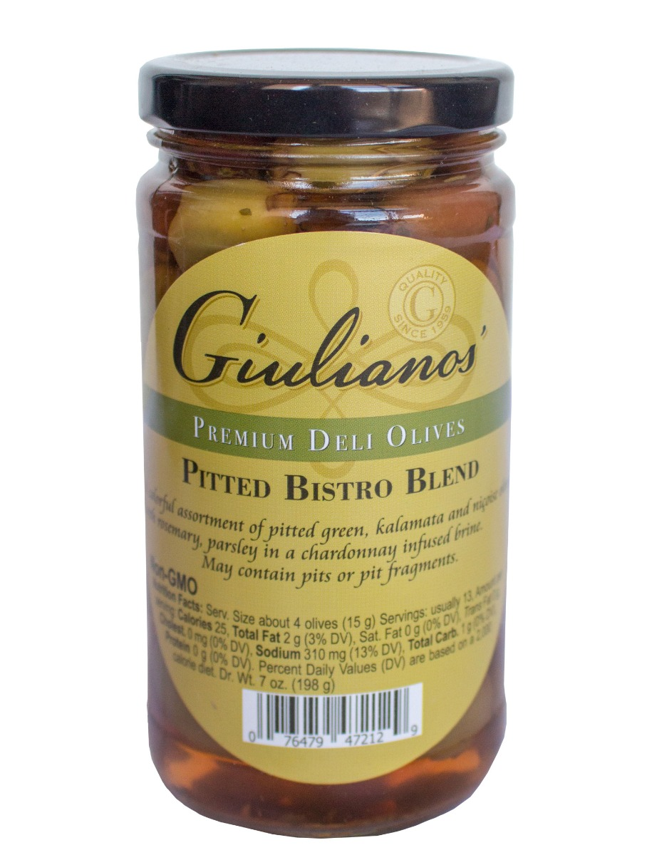 GIULIANO: Deli Olives Pitted Bistro Blend, 7 oz