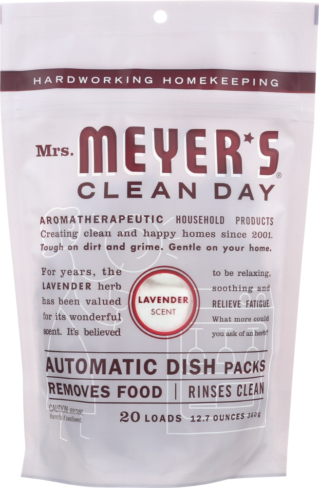 MRS MEYERS CLEAN DAY: Automatic Dish Packs Lavender Scent, 12.7 oz