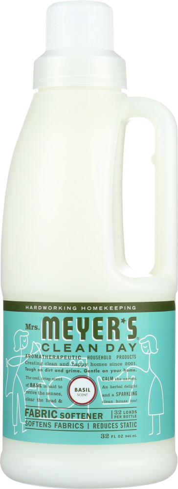 MRS. MEYER'S: Clean Day Fabric Softener Basil Scent, 32 oz
