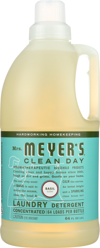MRS. MEYER'S: Clean Day Laundry Detergent Basil Scent, 64 oz