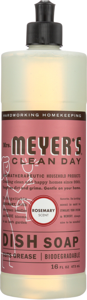 MRS. MEYER'S: Clean Day Liquid Dish Soap Rosemary Scent, 16 Oz