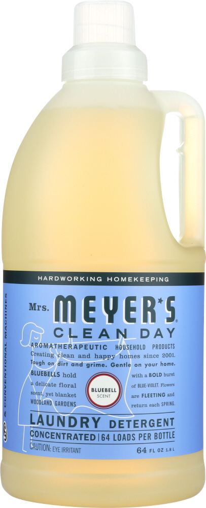 MRS MEYERS CLEAN DAY: Laundry Detergent Bluebell, 64 oz