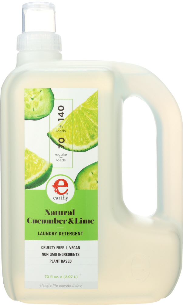 EARTHY: Laundry Detergent Cucumber & Lime, 70 oz