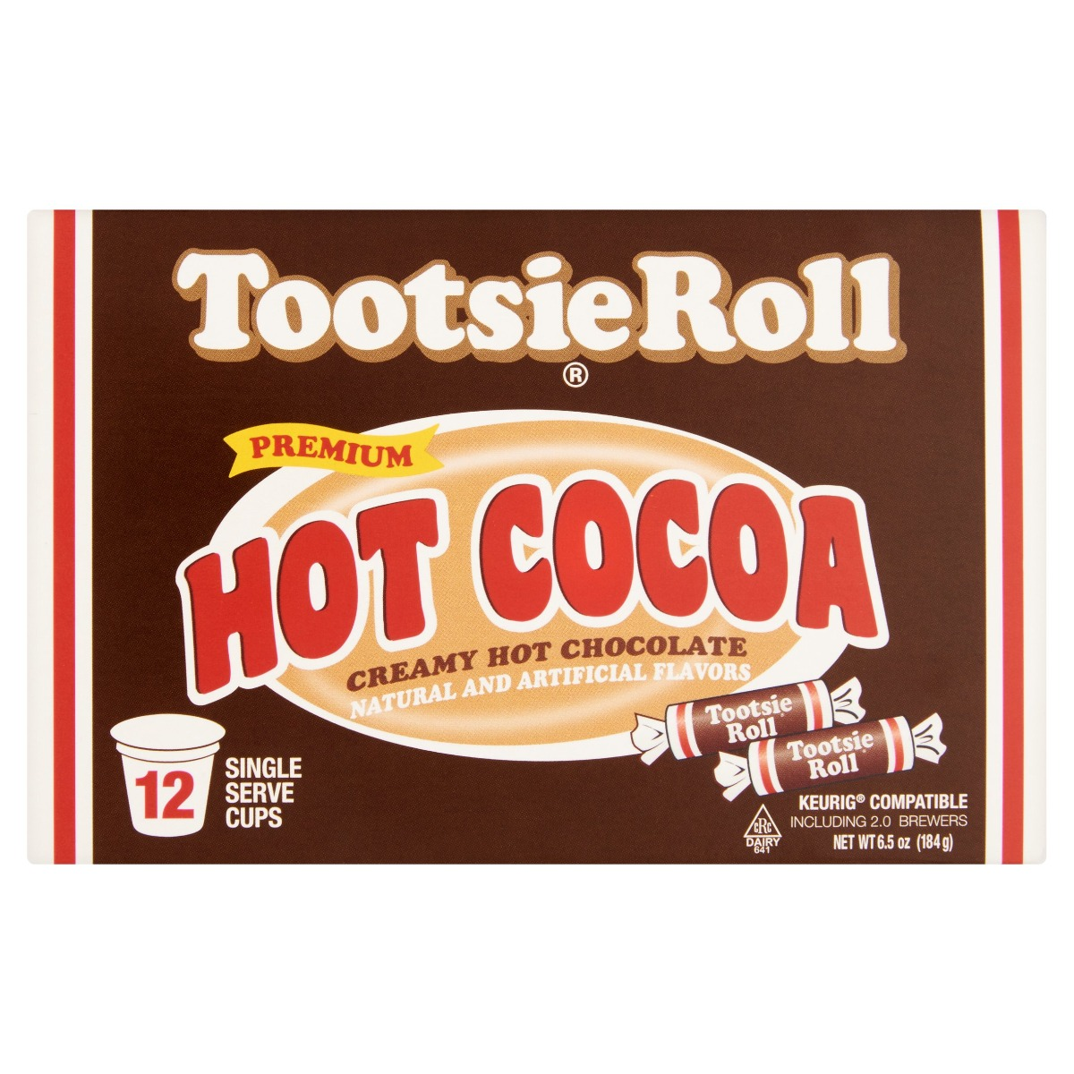 COCOA HOT TOOTSIE ROLL: Cocoa Hot Tootsie Roll, 12 pc