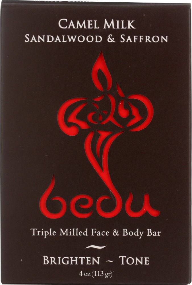 BEDU: Camel Milk Sandalwood and Saffron Soar Bar, 4 oz