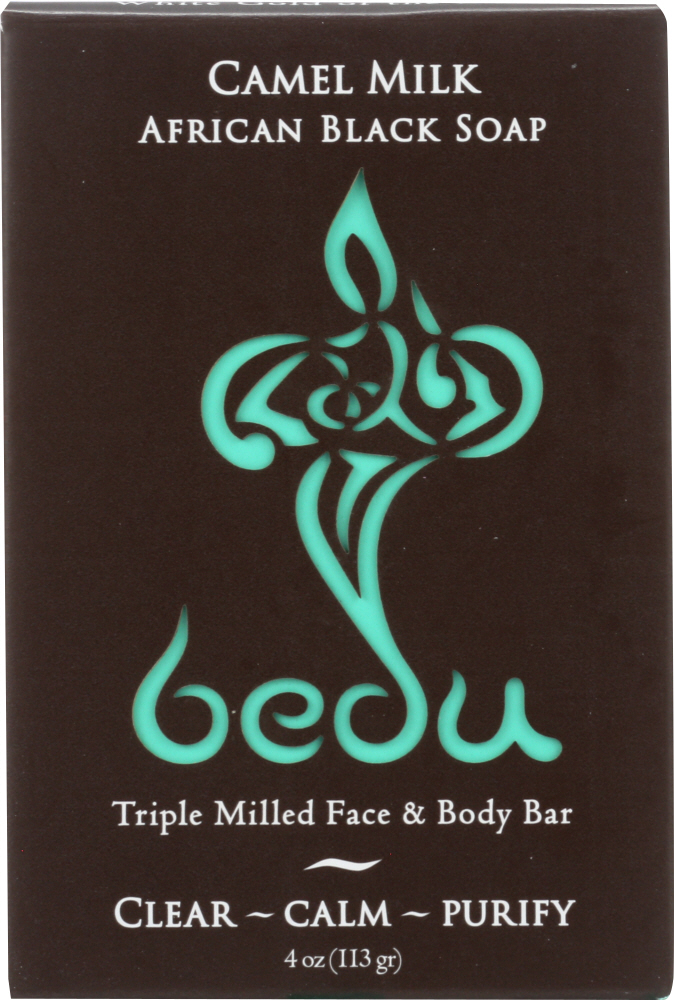 BEDU: African Black Camel Milk Soap, 4 oz