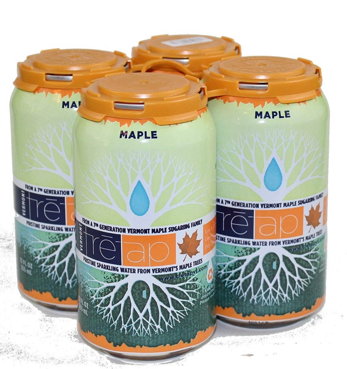 TRETAP: Maple Sparkling Water 4 Pack, 48 fl oz