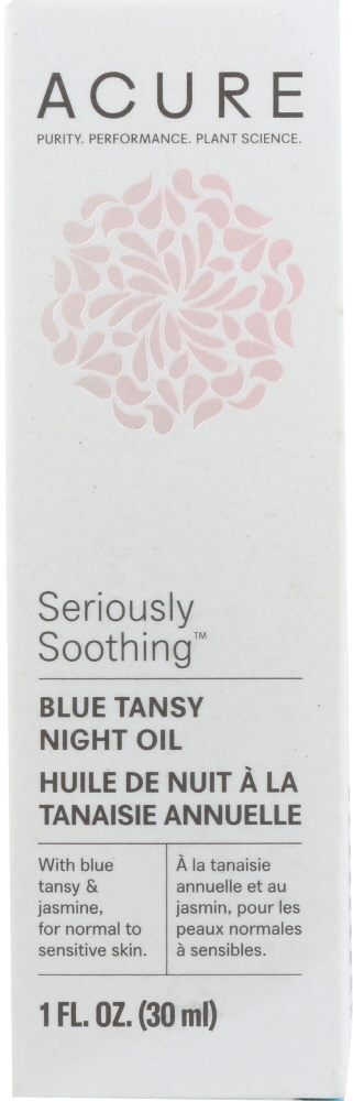 ACURE: Seriously Soothing Blue Tansy Facial Night Oil, 1 fl oz