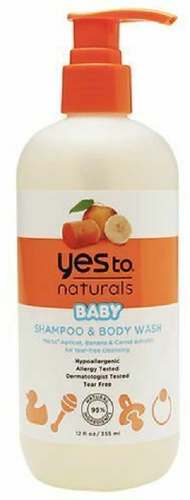 YES TO: Carrots Naturals Baby Shampoo and Body Wash, 12 oz