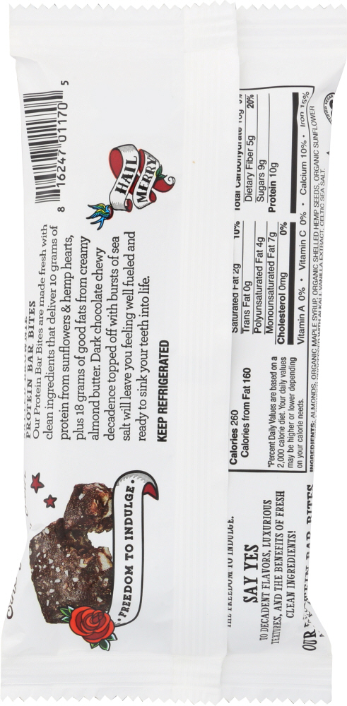 HAIL MERRY: Salted Brownie Bar Bites, 1.9 oz