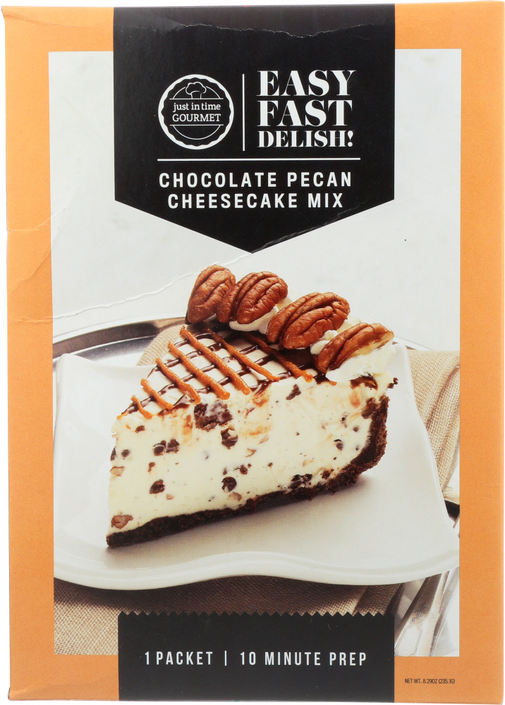 JUST IN TIME GOURMET: Cheesecake Chocolate Pecan Mix, 8.29 oz