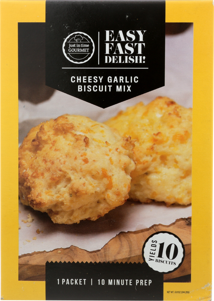 JUST IN TIME GOURMET: Cheesy Garlic Mix Biscuit, 8.61 oz