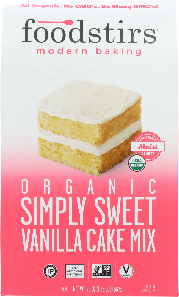 FOODSTIRS: Baking Mix Vanilla Cake, 20 oz