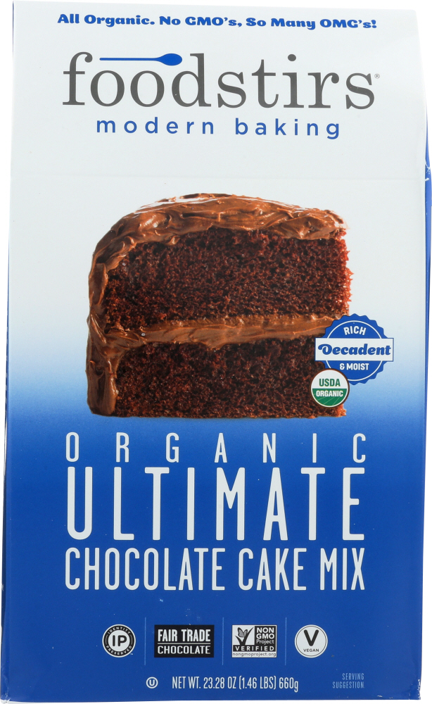FOODSTIRS: Ultimate Chocolate Cake Mix, 23.28 oz