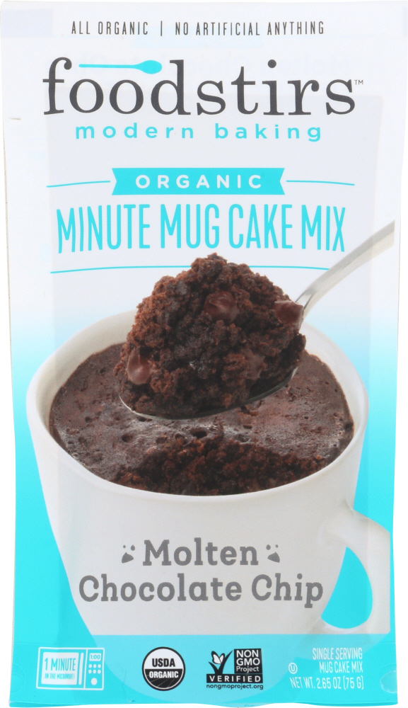 FOODSTIRS: Mix Mug Cake Chocolate Molten, 2.65 oz