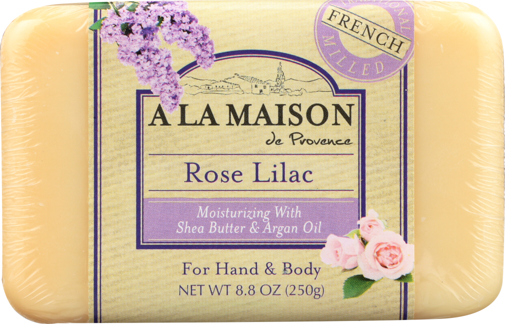 A LA MAISON: Rose Lilac Bar Soap, 8.8 oz