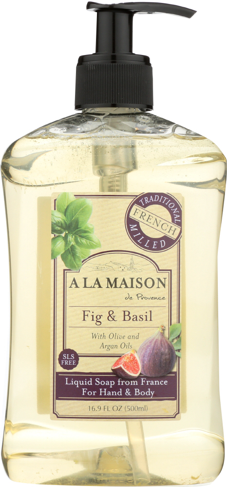 A LA MAISON: Fig & Basil Liquid Soap, 16.9 fl oz