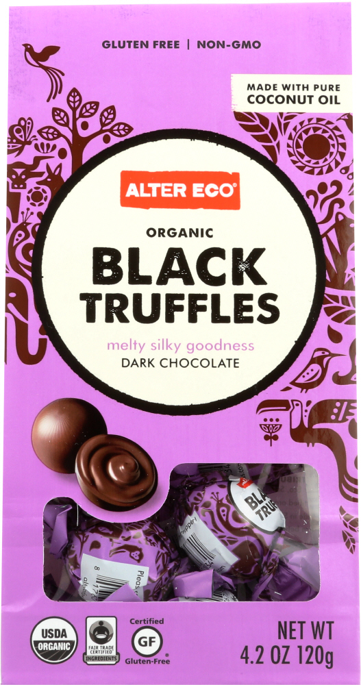 ALTER ECO: Organic Black Truffles Dark Chocolate, 4.2 oz