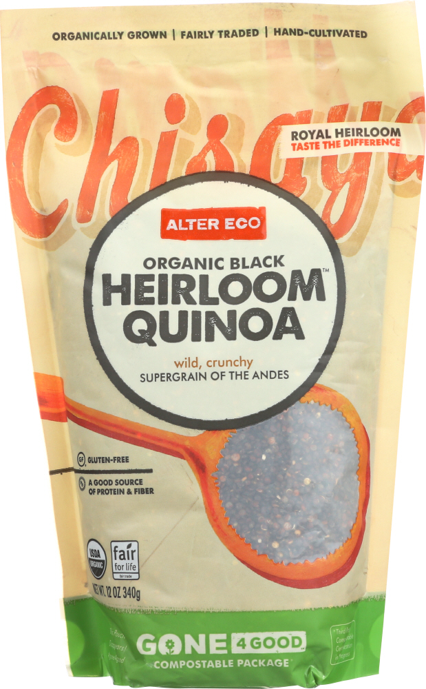 ALTER ECO: Black Quinoa Heirloom, 12 oz